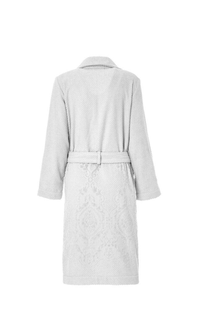 LADIES TRENCH BATHROBE - ARABESQUE COLLECTION WHITE