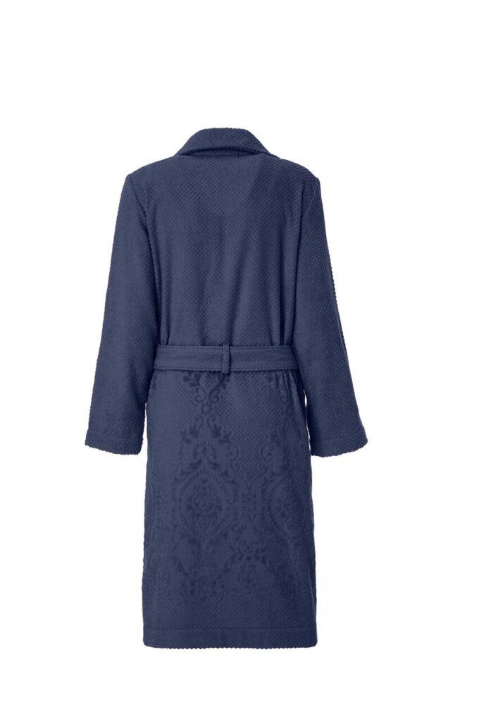 LADIES TRENCH BATHROBE - ARABESQUE COLLECTION DARK BLUE